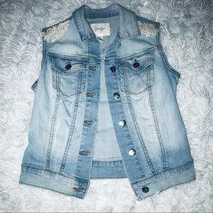 •Jessica Simpson•Light Wash Denim Vest•